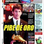 """El Mundo Deportivo: Messi """"Pibe de oro"""""""