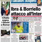 Corriere dello Sport: Ibra & Borriello attacco all'Inter