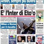 Corriere dello Sport: E'l'Inter di Eto'o