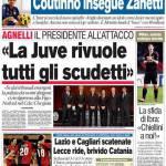 """Corriere dello Sport: """"La Juve rivuole gli scudetti"""""""