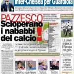 Corriere dello Sport: Pazzesco, scioperano i nababbi del calcio!