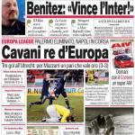 """Corriere dello Sport: Benitez """"Vince l'Inter!"""""""