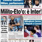 Corriere dello Sport: Milito-Eto'o, è Inter!