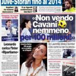 """Corriere dello Sport: """"Non vendo Cavani nemmeno per 100 milioni"""""""