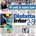 Corriere dello Sport: Disfatta Inter 2-5!
