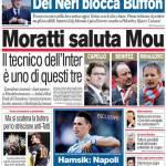 Corriere dello Sport: Moratti saluta Mou