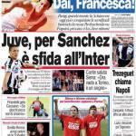 Corriere dello Sport: Juve, per Sanchez è sfida all'Inter
