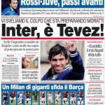 Corriere dello Sport: Inter, è Tevez