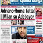 Corsport: Adriano-Roma, fatta! Il Milan su Adebayor