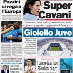 Corriere dello Sport: parla il bomber del Napoli, Super Cavani