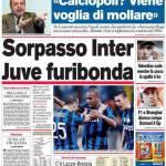 Corriere dello Sport: Sorpasso Inter, Juve furibonda