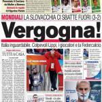 Corriere dello Sport: Vergogna!