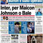 Corriere dello Sport: Inter, per Maicon Johnson e Bale