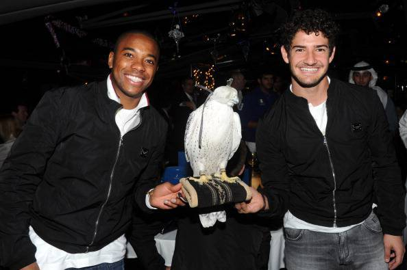 AC Milan's Alexandre Pato (R) and Robinh
