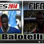 Video – PES 2014 sfida FIFA 14: ecco le facce di Balotelli, El Shaarawy e molti altri, a confronto…