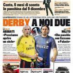 Gazzetta dello Sport: Derby a noi due