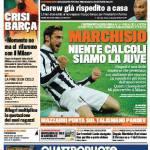 """Gazzetta dello Sport: Marchisio """"Niente calcoli, siamo la Juve"""""""