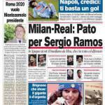 Corriere dello Sport: Milan- Real, Pato per Sergio Ramos
