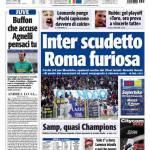Tuttosport: Inter scudetto, Roma furiosa
