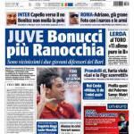 Tuttosport: Juve, Bonucci più Ranocchia