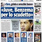 """Tuttosport: """"Juve, Benzema per lo scudetto"""""""
