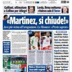 """Tuttosport: """"Martinez, si chiude!"""""""