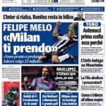 "Tuttosport: Felipe Melo ""Milan ti prendo"""