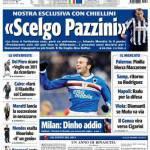 """Tuttosport: Chiellini """"Scelgo Pazzini"""""""