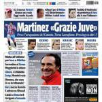 """Tuttosport: Martinez """"Grazie Juve"""""""
