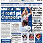 """Tuttosport: Matri & Toni """"I nostri gol Champions"""""""