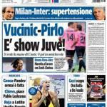 Tuttosport: Vucinic-Pirlo, è show Juve