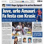Tuttosport: Juve, urlo Amauri, fa festa con Krasic