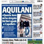 """Tuttosport: Aquilani """"Questa Juve mi ha stregato…"""""""