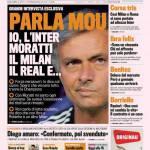 """Gazzetta dello Sport: Parla Mou """"Io, l'Inter, Moratti, il Milan e…"""""""