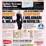 Gazzetta dello Sport: Benitez punge il Milan