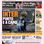 Gazzetta dello Sport: Inter punto e a capo