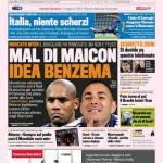 Gazzetta dello Sport: Mal di Maicon idea Benzema