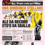 Gazzetta dello Sport: Ale da record, Eto'o da sballo
