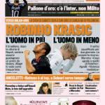 Gazzetta dello Sport: Robinho uomo in più, Krasic uomo in meno