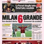 Gazzetta dello Sport: Milan 6 grande