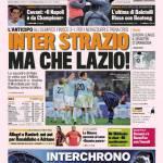 Gazzetta dello Sport: Inter strazio, ma che Lazio!