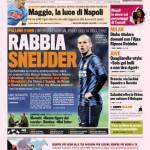 La Gazzetta dello Sport, rabbia Sneijder