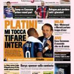 """Gazzetta dello Sport: Platini """"Mi tocca tifare Inter"""""""