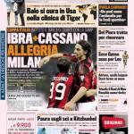 Gazzetta dello Sport: Ibra+Cassano, allegria Milan