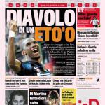 Gazzetta dello Sport: Diavolo di un Eto'o
