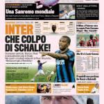 Gazzetta dello Sport: Inter, che colpo di Schalke