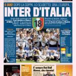 Gazzetta dello Sport: Inter d'Italia