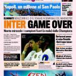 Gazzetta dello Sport: Inter Game Over