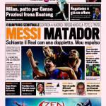 Gazzetta dello Sport: Messi matador