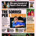 Gazzetta dello Sport: Tre sorrisi per l'Europeo